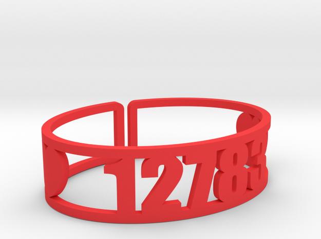 Silver Lake Zip Cuff in Red Processed Versatile Plastic