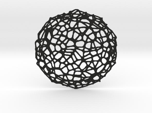 Coaster - Voronoi #8 (13 cm) in Black Natural Versatile Plastic