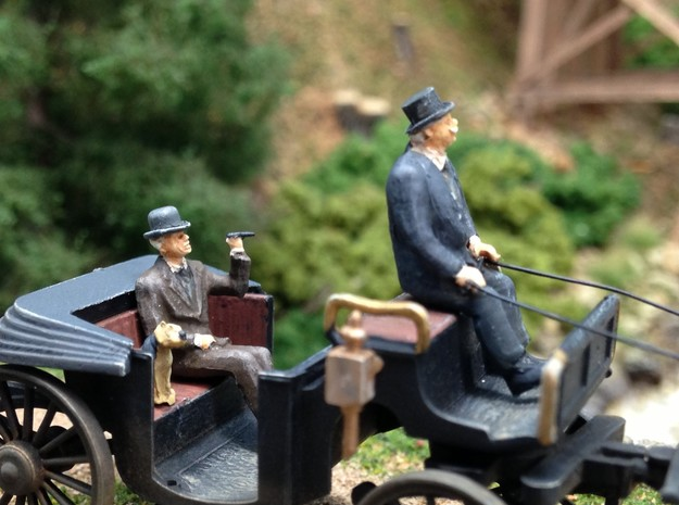 Bowler and Top hats large assortment HO scale 1:87 in Frosted Ultra Detail