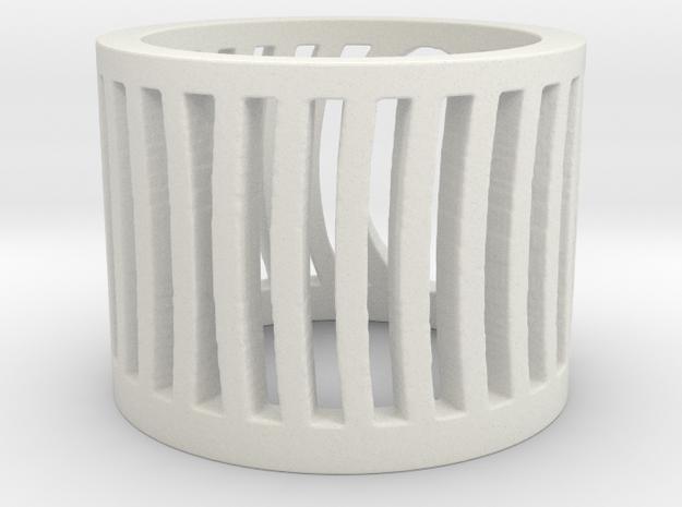 Stripes in White Natural Versatile Plastic