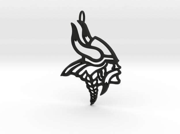 Viking Pendant in Black Strong & Flexible