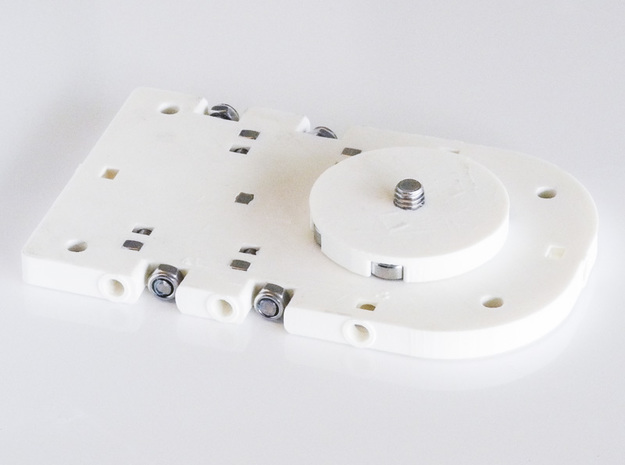 Pad Pod/Dolly in White Natural Versatile Plastic