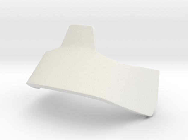 Angkle Guard Right in White Natural Versatile Plastic