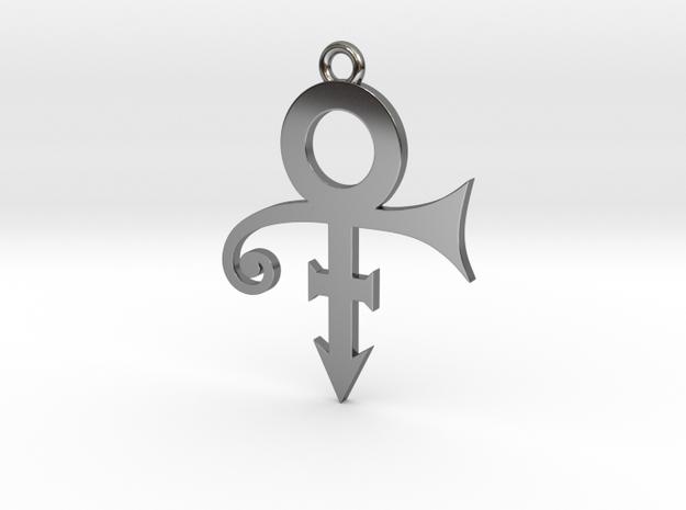 Prince Symbol 40mm V2 in Fine Detail Polished Silver