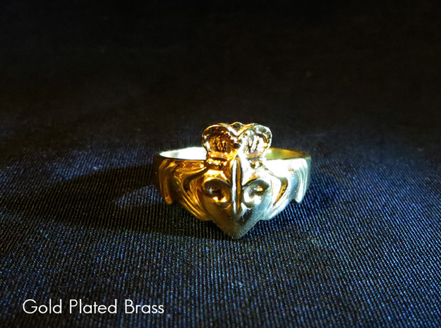 NOLA Claddagh, Ring Size 9 in White Natural Versatile Plastic