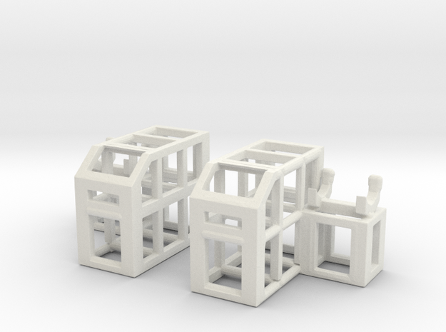Depth Charge Thrower Rack 1/144 Scale in White Strong & Flexible