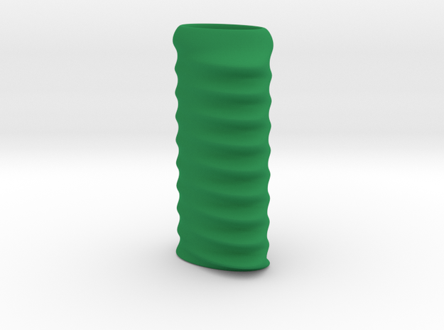 Ridged Lighter Case in Green Processed Versatile Plastic