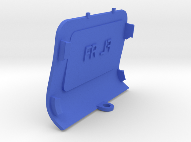 Front-Right Saab Jack Point Cover in Blue Processed Versatile Plastic