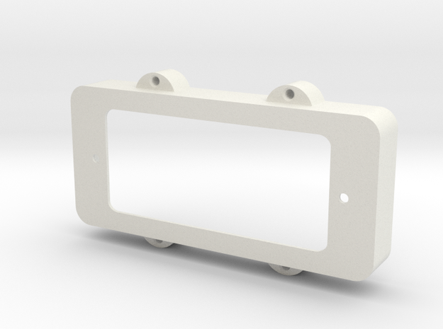 Jazzmaster Pickup Cover - Mini-Humbucker Mount in White Natural Versatile Plastic