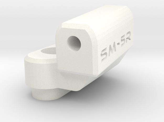 New School Reactive - 5 Degree Block - Right in White Processed Versatile Plastic