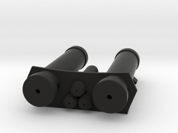 E-11 Power Cylinders v1.1 Profile B in Black Natural Versatile Plastic