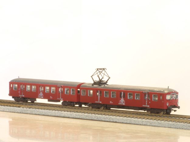 Short DSB S-tog MM + FS (Reno 2) N scale in Smoothest Fine Detail Plastic