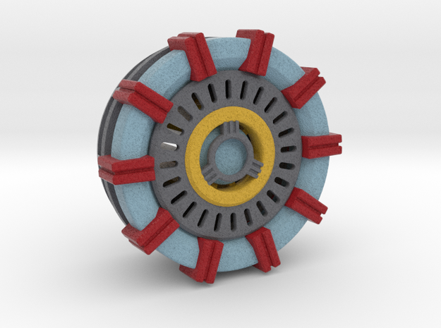 Iron Man Arc Reactor in Full Color Sandstone