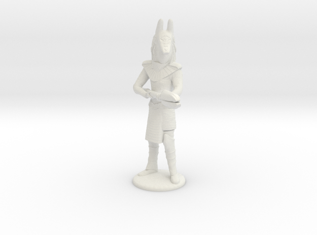 Jackel Guard With Staff - 20 mm in White Natural Versatile Plastic