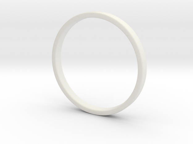 Ring For Cynthia size 7.5 2mm Wide 1.2mm Thick in White Natural Versatile Plastic