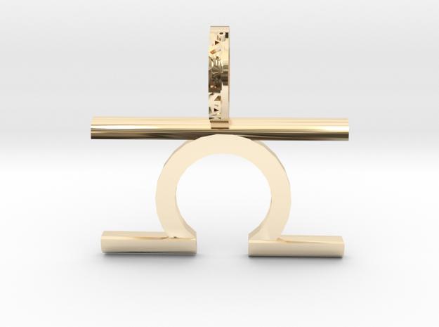 Libra (Zodiac)- Pendant in 14k Gold Plated