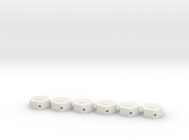 MGD-02 (6x): A Set with 6 Penta-parts in White Natural Versatile Plastic