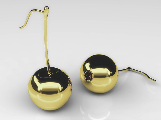 Cherry On Top Thin in Polished Brass
