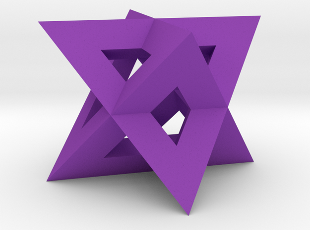 Mini-Merkaba - Sharp - Thick - 1cm in Purple Processed Versatile Plastic