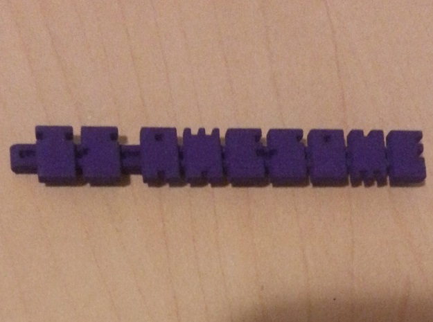 IS AWESOME Badge Clip in Purple Processed Versatile Plastic