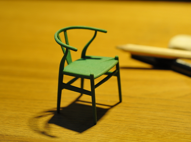 Wishbone style chair 1/12 scale  in Green Strong & Flexible Polished