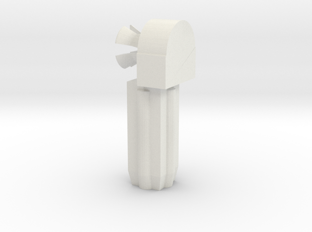 SWIVEL JOINT MALE in White Natural Versatile Plastic