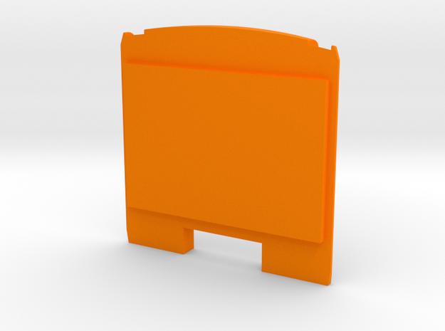 Brussels Metro M1 Rear panel in Orange Processed Versatile Plastic