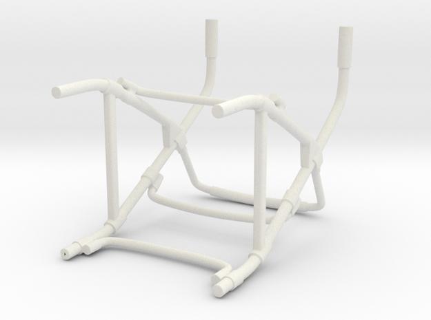 Walker Hollow Shapeways in White Natural Versatile Plastic