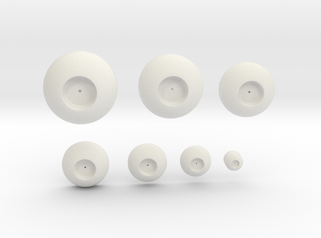 New Eyes in White Natural Versatile Plastic