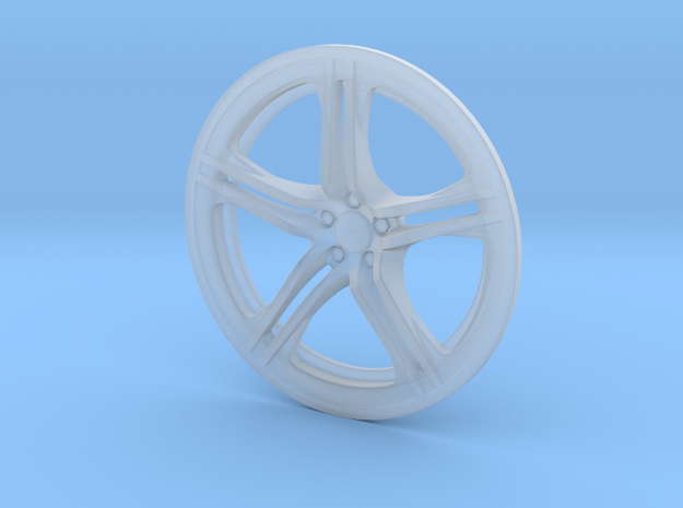 Racing Wheel Cover 01_43mm in Smoothest Fine Detail Plastic