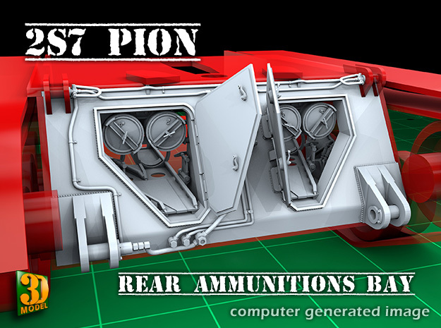2S7 PION Ammunitions Bay (1:35) in Smooth Fine Detail Plastic