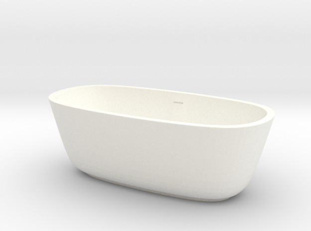 1:48 Bath Tub in White Processed Versatile Plastic
