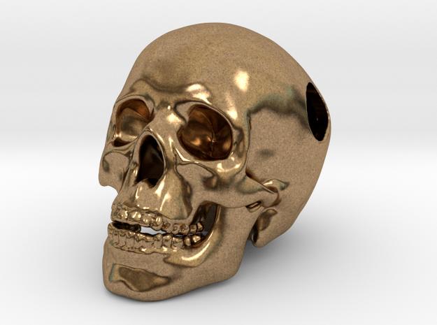Human Skull Pendant - Skull Bead 3d printed