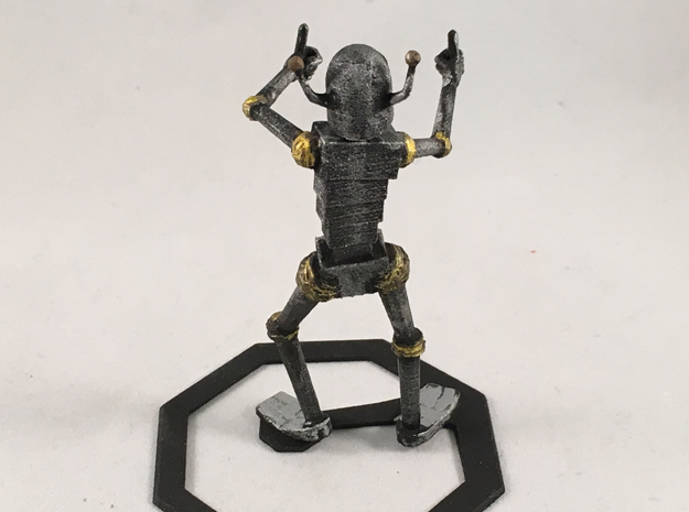 Encouraging Robot 3d printed Painted. Does not come this way.