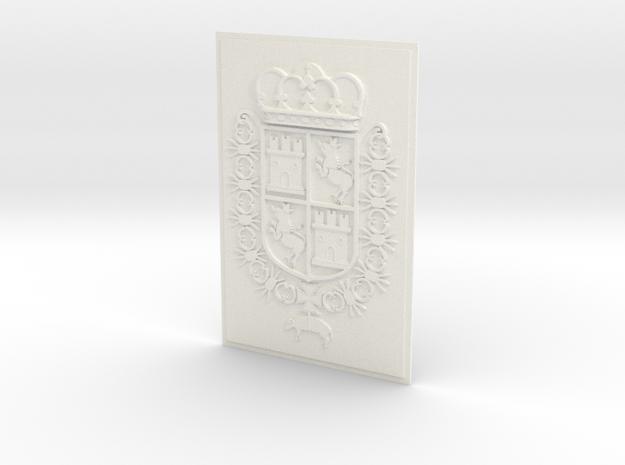 Spain COA 4x6_Castillo de San Marcos_St. Aug. FL. in White Processed Versatile Plastic