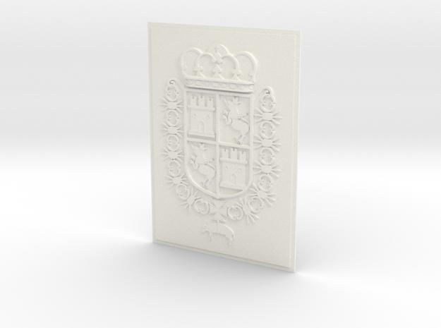 Spain COA 5x7_Castillo de San Marcos_St. Aug. FL. in White Processed Versatile Plastic