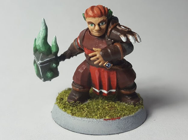 Dwarf Druid in Black Hi-Def Acrylate