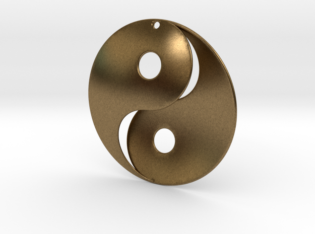 Yin Yang Pendant in Natural Bronze