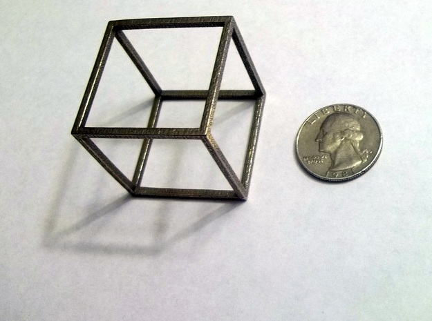 Cube (Hexahedron) 3d printed
