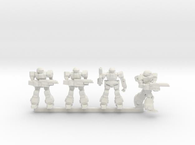 Howlers Squad in White Natural Versatile Plastic