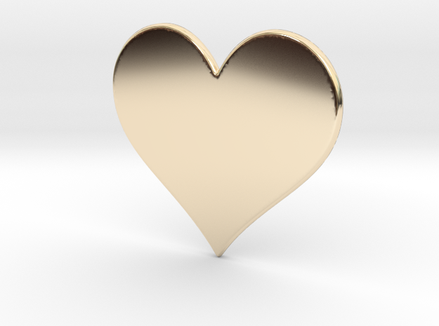 Heart in 14k Gold Plated Brass