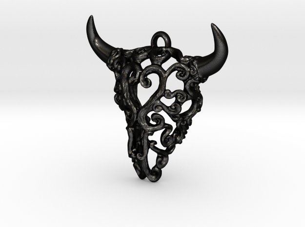 Filigree Bison Skull 3d printed