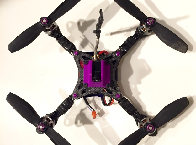 FPV Mount- HS1177M (unwrapped) in Purple Processed Versatile Plastic