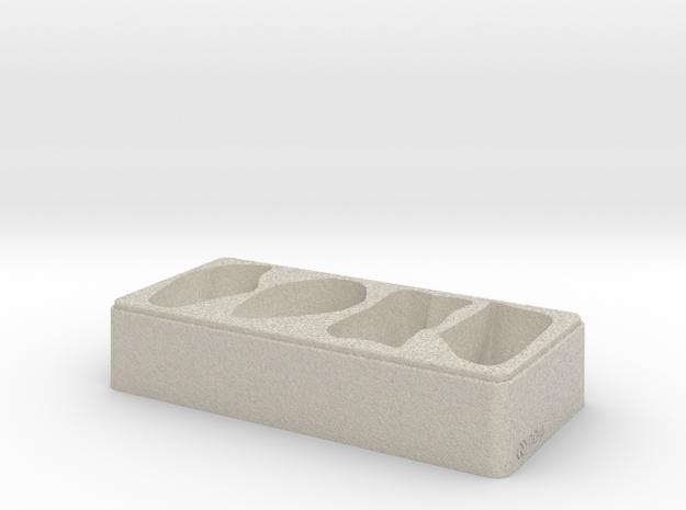 Rock Tray - 3D Print - REV1 - 02-23 in Natural Sandstone