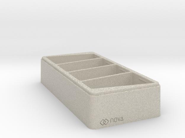 Geo Tray - 3D Print - REV1 - 02-23 in Natural Sandstone