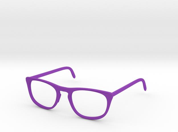 Classic Glasses Frames in Purple Processed Versatile Plastic