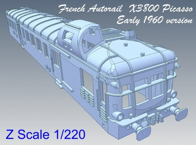 1-220 Autorail X3800 Picasso Early 1960 3d printed