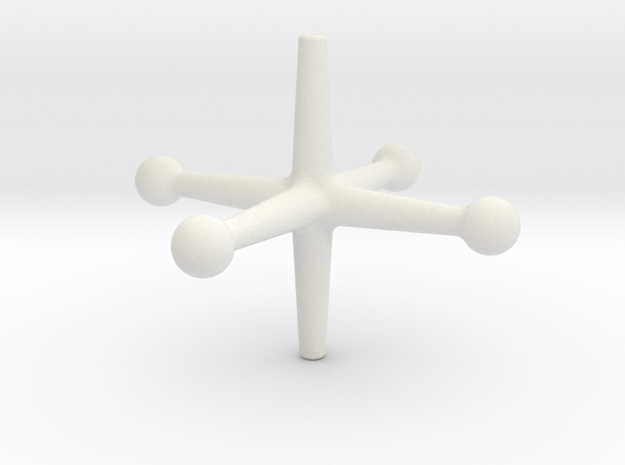 Spinjacktoy in White Strong & Flexible
