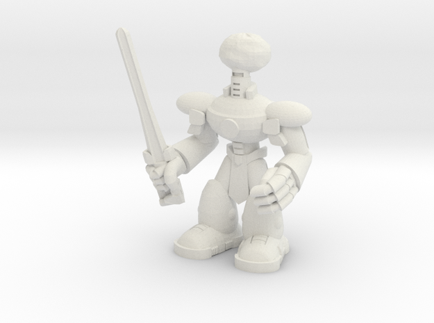 Chris Bot in White Natural Versatile Plastic