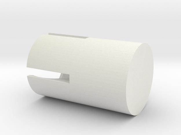 Mountblock Corners Rounded in White Natural Versatile Plastic